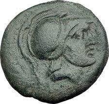 SYRACUSE in SICILY 212BC RARE R1 Ancient Greek Coin ARES Bull Sacrifice i64761