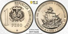 Dominican Republic 1988(c) Peso PCGS MS68