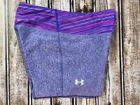Women's Under Armour Fitted Compression Purple Shorts Size XS