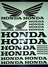 Honda and  Honda Wings Tank Motorcycle Van Car Vinyl Decals Stickers set