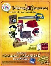 2006 McDonalds Pirates of Caribbean MIP Complete Set of 8, Boys & Girls, 3+