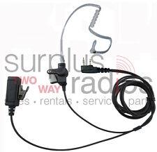 2 Wire Surveillance Headset Kenwood TK3160 TK2160 TK2170 TK3170 TK2400 TK3400