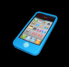 NEW ROYAL BLUE SILICONE RUBBER GEL APPLE IPHONE 4 4S CASE BUY ONE GET ONE FREE
