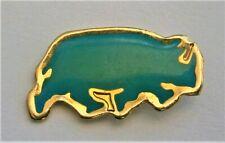 H550:)  Enamel Blue Rhino Rhinoceros badge tie lapel pin
