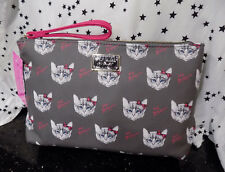 Cat Cosmetic Bag Betsey Johnson Wristlet Kitten Makeup Pouch NEW*