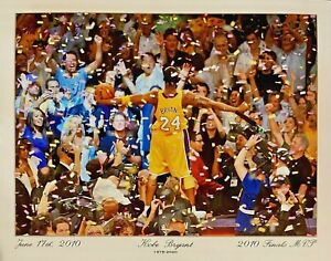 KOBE BRYANT LIFE TRIBUTE POSTER 11x14 Full Color Glossy Photo w/Dates FREE SHIP!