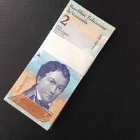 Full Bundle 100 PCS, Venezuela 2 Bolivares, 2012/2013,  P-88, UNC, Lot Pack