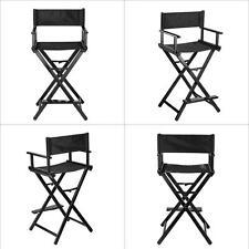 Portable Black Makeup Artist Director's Chair Aluminum Frame Light Weight E7V2