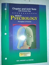 NEW - Psychology Principles in Practice Chapter and Unit Tests with Answer Key