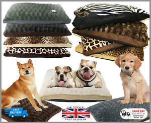Luxurious Fur Pet Bed Soft Pillow Cushion for Cats/Dogs Washable Zipped Cover