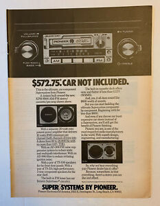 1978 Pioneer KPH-9000 Car Radio AM FM Print Ad Original Vintage Long Beach CA