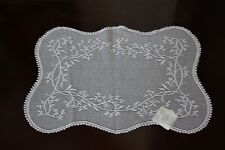 """Heritage Lace Sheer Divine SD-1420E 14"""" x 20"""" ECRU Dolie Table Runner NEW"""