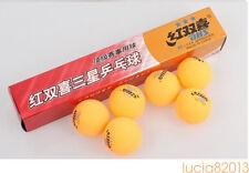 3 boxes (18 Pcs) 3 star DHS 40MM Olympic Table Tennis Orange Ping Pong Balls BID