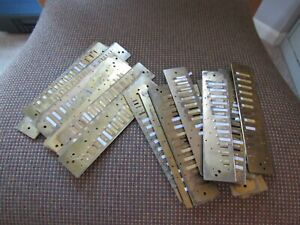 20 lot of REED PLATES for HOHNER BRAND MODEL 270 HARMONICA. PARTS LOT. BRASS