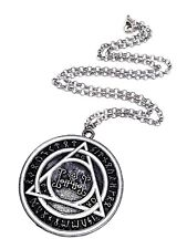 Cosplay John Constantine Rune Protection Pendant Necklace Movie Prop Jewellery