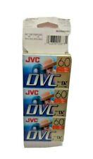 Pack of 6 JVC Mini-DV DVC 60 Digital Video Cassette Blank 90 Min DVM60ME Sealed