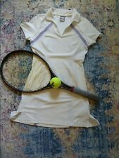 Nike Dri-Fit Tennis Dress White with Purple Accents Size Small S Nwot