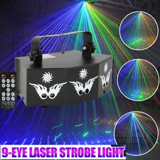 9 Eye Laser Stage Light Projector Led Rgb Dmx Strobe Dj Disco Party Lighting