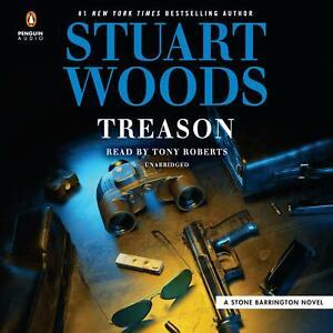 Stuart Woods TREASON (Stone Barrington) Unabridged CD *NEW* FAST Ship!