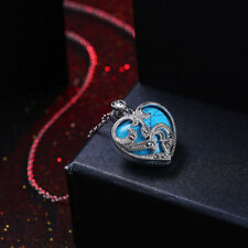 925 Sterling Silver Marcasite & Turquoise Heart Necklace