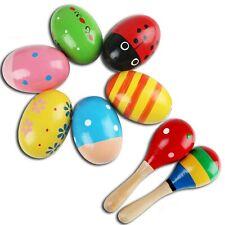 Wooden Maracas Egg Shaker Percussion Musical Egg Maracas for Baby, 6PCS Color...