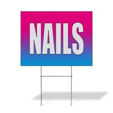 Weatherproof Yard Sign Nails Salon Blue Lawn Garden Amp Spa