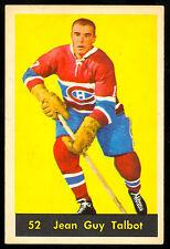 1960 61 PARKHURST HOCKEY #52 JEAN GUY TALBOT EX-NM MONTREAL CANADIENS CARD