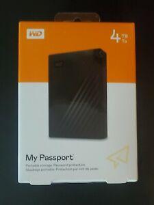 New / Sealed WD My Passport 4TB Portable Storage