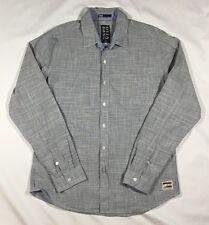 Men's Billabong Gray Long Sleeve Button Front Shirt-Size S
