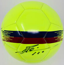 Barcelona Lionel Messi Signed Nike Soccer Ball Leo Neon - Beckett BAS COA