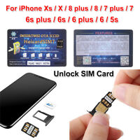 Nano SIM Unlock SIM Card ICCID For iPhone Xs X 8 7 6s 6 plus 5s iOS 12.2