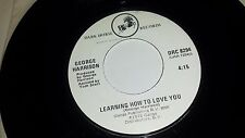 """GEORGE HARRISON The Song / Learning How To Love You DARK HORSE 8294 45 7"""" VINYL"""