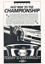 1985 Chevrolet Monte Carlo SS NASCAR Race Champ Advertisement Car Print Ad J505