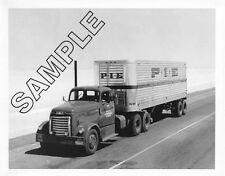 P.I.E. 1950s GMC 950+ TRACTOR w/DETROIT 6-110 & TRAILER 8x10 B&W Glossy Photo