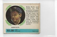Babe Ruth 1968 American Oil Sweepstakes Panel Card