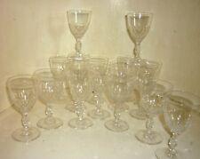 17 verres ancien Cristal BACCARAT  circa 1900 taille Chauny
