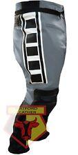 Leather Pant. Yamaha 6728 Grey Black Cowhide Motorcycle Biker Armoured Trouser