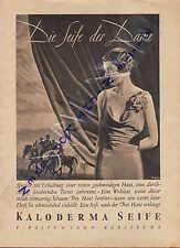 KARLSRUHE, Werbung 1933, F. Wolff & Sohn KALODERMA-Seife