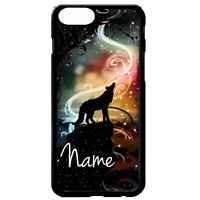 Wolf howling at the full moon wolves animal personalised name phone case cover