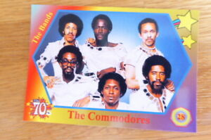 THE COMMODORES THE BANDS 1970's CARD # 28  2020