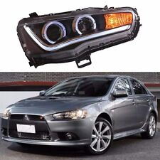 New Halo Projector LED Headlights For Mitsubishi Lancer 2008-2016 One Set