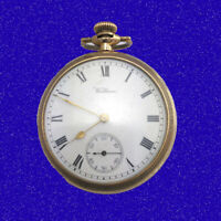 WW1  14k Gold Waltham  Traveller 7 Jewelled Officers Trench  Pocket Watch 1914