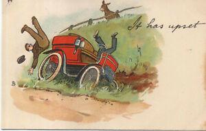 Comic Veteran Car Crash watched by a donkey Lance Thackeray Tuck