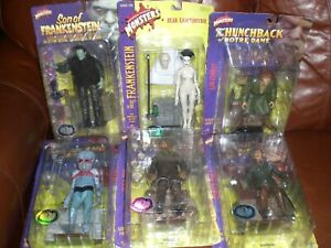 NIP LOT OF 6 UNIVERSAL STUDIOS MONSTERS SIDESHOW TOY CLASSIC EDITION
