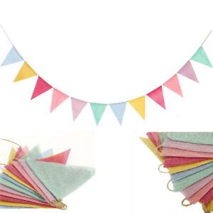 12 Flags Colorful Reusable Bunting Wedding Birthday Outdoor Garden Party Decor