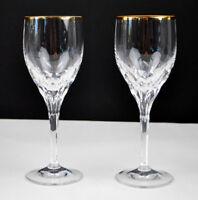Gorham DIAMOND GOLD Fine Crystal Set of 2 glasses