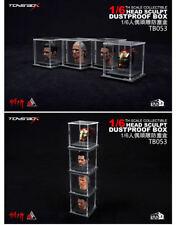 TOYS-BOX 1/6 Scale Head Sculpt Dustproof Display Box Storage Case Model
