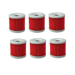 6pcs Oil Filters For Hyosung GV250 AQUILA 250 GT250 GV125 XRX125 GF125 RX125
