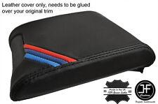 Negro Stitch & M rayas Deslizante Cubierta De Cuero Real de los apoyabrazos se Ajusta BMW E39 96-03