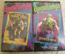 Goosebumps VHS lot of 2 A Night In Terror Tower Haunted Mask Clamshell